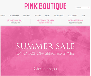 Pink Boutique Discount Code