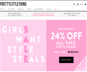 Pretty Little Thing Discount Code