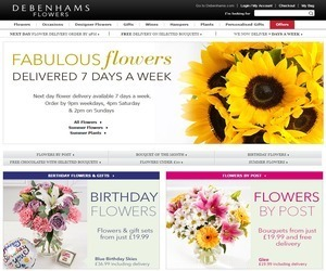 Debenhams Flowers Discount Code