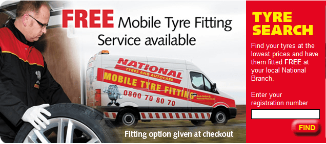 National Tyres banner