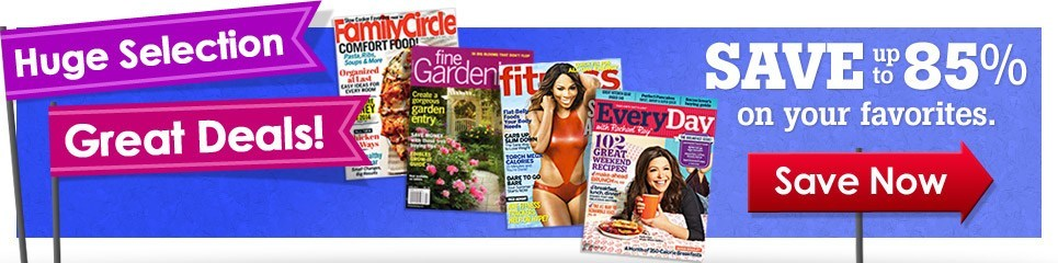 Magazine Subscriptions Banner