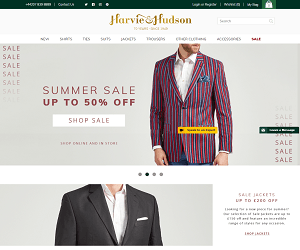 Harvie and Hudson Discount Code