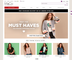 M and Co Discount Code